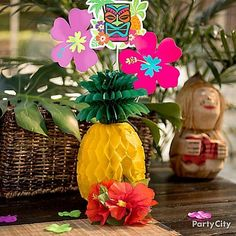 This Pineapple Honeycomb Centerpiece will add a summer glow to your table!