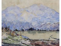 """""""Blue Mountain,"""" Chauncy F. Ryder, watercolor, 17 x 21"""", private collection."""