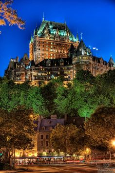"""The Château Frontenac, designed by the American architect Bruce Price, was one of a series of """"château"""" style hotels built for the Canadian Pacific Railway  company at the end of the 19th and the start of the 20th century. The railway company sought to encourage luxury tourism and bring wealthy travelers to its trains. The Château Frontenac opened in 1893, five years after its sister-hotel, the Banff Springs."""