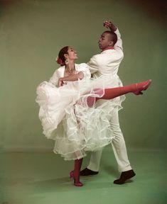 Geoffrey Holder with Carmen de Lavallade his future wife