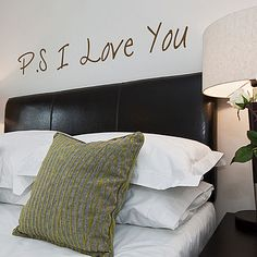 'P S I Love You' Wall Sticker Quote would really love it on the bedroom wall