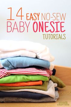 You are going to want to make every one of these adorable DIY no sew onesie ideas! They are perfect baby shower gifts and crafts for baby boys or girls!: