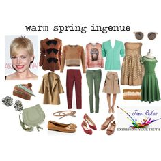 warm spring ingenue by expressingyourtruth on Polyvore featuring RED Valentino, Bettie Page, Pierre Cardin, Yumi, Givenchy Haute Couture, Kate Spade, Tory Burch, Chloé, Sondra Roberts and Jo Gordon