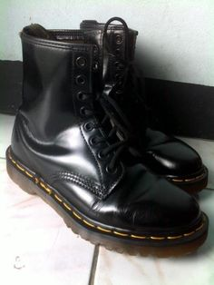 Doc Martins. Wore these with a short plaid skirt to a Pearl Jam concert in 1994!!