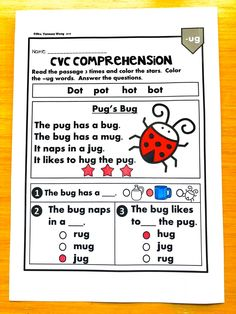 Free phonics worksheets for kindergarten and first grade