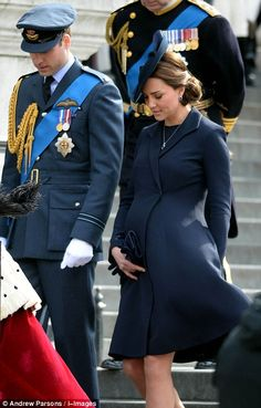 Prince William and a heavily-pregnant Duchess of Cambridge leave St Paul's...