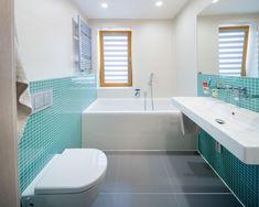 Změna dispozice bytu 3+1 v Praze - Rekonstrukce bytů | Kouba Interiér Corner Bathtub, Bathroom, Home, Washroom, Full Bath, Ad Home, Homes, Bath, Bathrooms