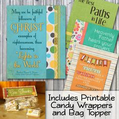 November 2014 Visiting Teaching Handouts and Recipe Cards - includes FREE Printable Candy Wrappers and Bag Topper For Octobers Message, click