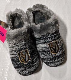 2e4da6334 Slippers 163550: Las Vegas Golden Knights Slippers Logo New Womens Slide  House Shoes! Peak