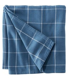Maine-Made Cotton Blanket, Windowpane Beige Sectional, Textile Manufacturing, Nautical Home, Cotton Blankets, Fabric Art, Midnight Blue, Maine, Design, Llbean