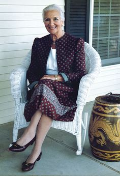 Vera Bradley, a creative Lady who's given femininity to women through her products; thank you, thank you!