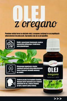 Oregano to roślina, która może wiele. Warto ją, zatem zawsze mieć w domu w każdej formie. Essential Oils Guide, Coconut Water, Helpful Hints, Healthy Recipes, Jennifer Lopez, Drinks, Tips, Beauty, Food