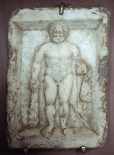 Hercules,small marble relief from Varna,Bulgaria Thracian culture