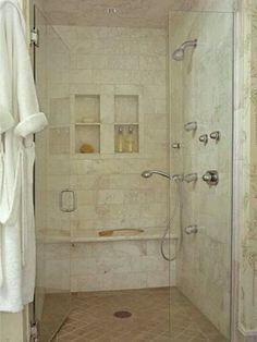 Rebath Venetian Stone Wall System With Custom Walk-In Shower and ...