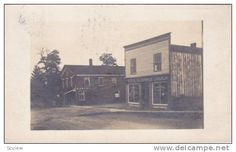 RP: Main Street(dirt), Sterling Bank of Canada , SPARTA , Ontario , Canada , PU-1907