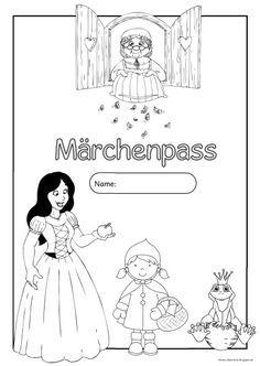"""Märchenpass (Kopiervorlage)   Morgen startet anunserer Schule die Projektwoche zum Thema """"Märchen"""".   Ich möchte mit den Kindern viele Mär..."""