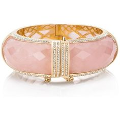 Kate Spade A Spot Of Sparkle Bangle (€265) ❤ liked on Polyvore featuring jewelry, bracelets, watches/bracelet, kate spade jewelry, hinged bracelet, bangle bracelet, semi precious stone jewelry and semi precious jewellery