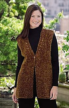 Ravelry: Simple Luxury Vest (crochet) pattern by Lion Brand Yarn