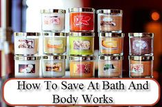 How To Save At Bath and Body Works