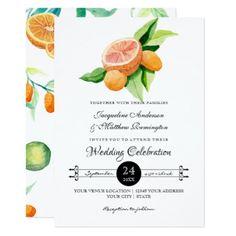 #country - #Simple Citrus Kumquat Lemon Orange Typography Leaf Card