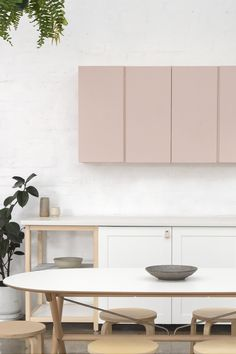 Bicker | Design School // Ikea Cabinetry, Leather Pulls, Custom Painting