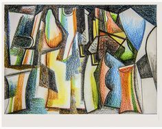 senza titolo- matita e pastelli su carta-cm 19x15-autore angelo bressanini