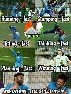 fastest than anything❤❤❤ History Of Cricket, World Cricket, India Cricket Team, Cricket Sport, Funny Facts, Funny Jokes, Haha Funny, Dhoni Captaincy, Crickets Funny