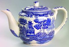 Always loved Blue Willow pattern, and teapots