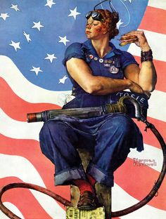 Rosie the Riveter circa 1943 by Norman Rockwell. I'll need a ham sandwich next Halloween