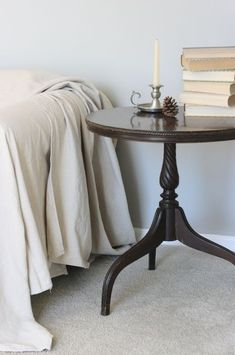 a perfect antique end table