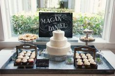 Tarts and cupcakes surrounded a lemon-coconut cake in Bald Head Island, North Carolina