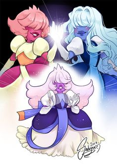 sapphire, padparadscha, and steven universe image