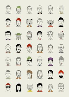 The characters of Wes Anderson on Behance