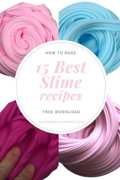 'HOW To MAKE 15 Best Slime recipes FREE DOWNLOAD RAINBOWPLAYMAKER.COM #howtoslime #howtomakeslime #fluffyslime #easyslime #slimediy #diy #slimerecipe #slimetutorial Free Slime, Diy Slime, Cool Slime Recipes, How To Make Slime, Sensory Activities, Free Ebooks, Free Food, Free Pattern, I Am Awesome