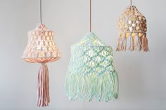 The macrame trend continues its comeback with a collaboration that brings together lighting aficionados Plumen with DIY fashion brand Wool and the Gang who have designed a macrame lampshade kit you ca