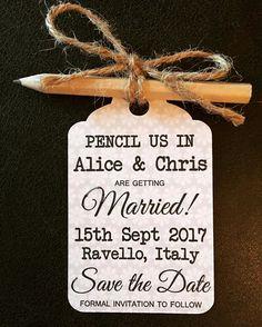DIY save the dates! Alice and Chris are getting married in one year time! #ravelloweddings #savethedates #diywedding #weddingideas #italyweddings