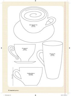 coffee pattern for applique Quilting Templates, Applique Templates, Applique Patterns, Applique Quilts, Applique Designs, Embroidery Applique, Card Templates, Quilt Patterns, Pach Aplique