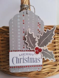 Welcome back to Day 22 of 25 Days of Christmas Tags! Today my guest is Kelly Schirmer of Gingham Girl ! Kelly designs for Waltz. Christmas Paper Crafts, Handmade Christmas, Holiday Crafts, 25 Days Of Christmas, Christmas Signs, Christmas Ideas, Holly Christmas, Outdoor Christmas, Wine Bottle Tags