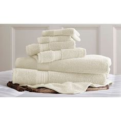 Luxury Spa Collection 6pc Towel Sets, Beige