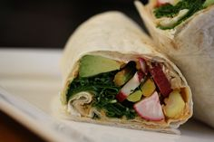 An unbelievably tasty, spicy, and crunchy #Hummus Wrap from the Best-Ever Lunchbox!