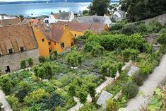 A beautiful food garden - the re-created medieval garden at Culross Palace in Fife, Scotland