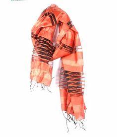 Favola Orange-Black Shaded Stole #stole #scarves