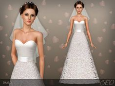 Wedding dress 36 by BEO - Sims 3 Downloads CC Caboodle