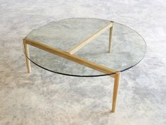 Coffee Table by Nathan Day - Coffee Table, Oak, Glass, Minimalist