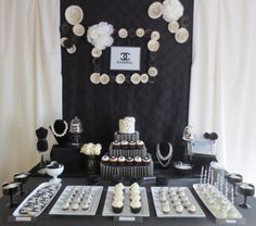 Coco Chanel Inspired Dessert Table