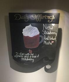 Mocha, Red Velvet, Starbucks, Strawberry, Drawing, Red Valvet, Moka, Strawberries, Sketch