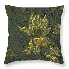 All Throw Pillows - Yellow Flowers Throw Pillow by Lovina Wright