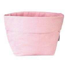 Stoffkörbchen Vichykaro rosa 36cm