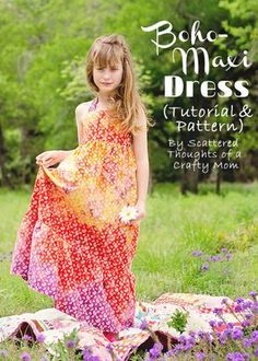 Free Child's Maxi Dress Sewing Pattern and Tutorial  --  Sizes 3/4, 5/6, and 7/8  --  Scattered Thoughts of a Crafty Mom