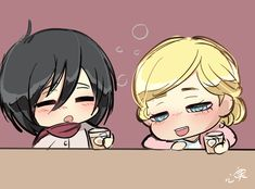 feeling in a good mood today - Best of Wallpapers for Andriod and ios Attack On Titan Comic, Attack On Titan Ships, Attack On Titan Fanart, Mikasa Chibi, Eren And Mikasa, Fanarts Anime, Anime Chibi, Armin, Snk Annie